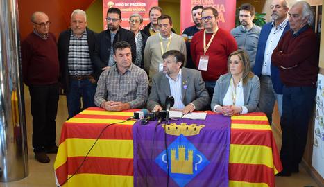 Imatge de la nova permanent nacional d'UP amb els coordinadors territorials.