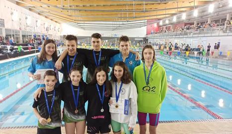Els nadadors dels clubs lleidatans que van aconseguir medalla.