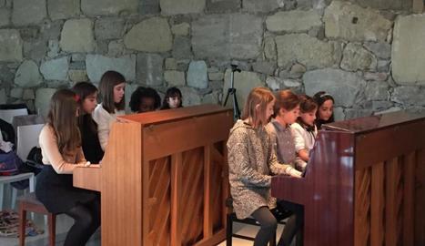 Exhibició de piano dels alumnes de l'escola municipal de la Seu