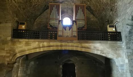 L'arc del cor de Sant Llorenç, reparat després d'unes obres d'urgència