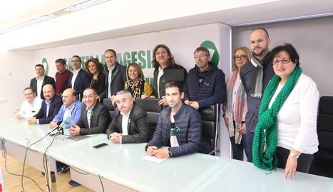 La roda de premsa de presentació de la manifestació ha tingut lloc aquest dimecres a Alcarràs.