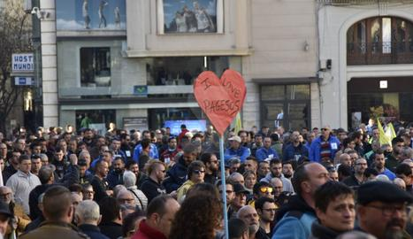 Protesta a Lleida en defensa del camp