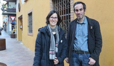 Divina Farreny, delegada de Salut, i Marc Ramentol.