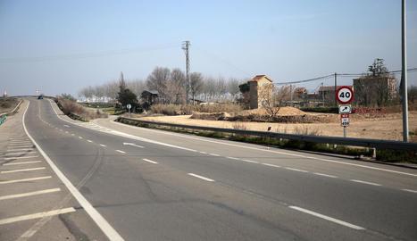 El lloc on es va produir l'accident mortal a última hora de divendres, al km 459,3 de l'N-IIa.