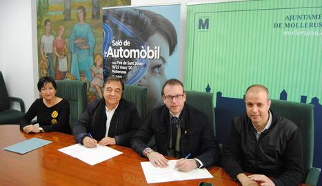 La firma del conveni de col·laboració.
