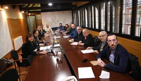 La reunió d'ahir entre Paeria i veïns del Barri Antic.