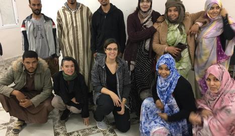 Les professores de la UdL, amb els estudiants