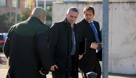 El comissari dels Mossos Joan Carles Molinero, ahir a l'arribar a l'Audiència Nacional.