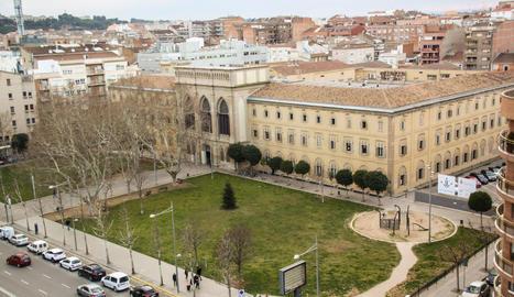 Imatge d'arxiu de l'edifici del Rectorat de la Universitat de Lleida.