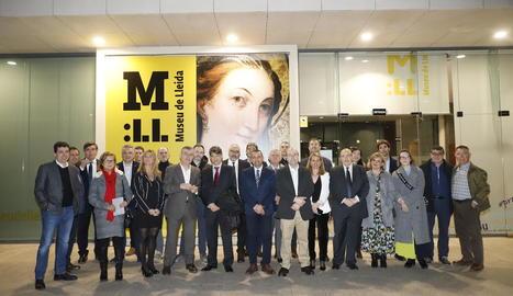 Presentació ahir al Museu de Lleida de la iniciativa Impulsa Cultura davant d'empresaris culturals.
