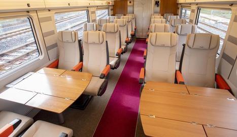 L'interior dels trens AVE 'low cost' que s'estrenaran el 6 d'abril.