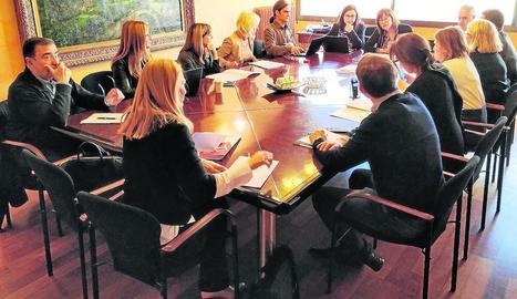 Imatge de la reunió de la Comissió d'Economia d'ahir.