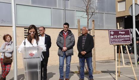 L'acte va començar amb l'actuació de la Colla Gegantera de Lleida.