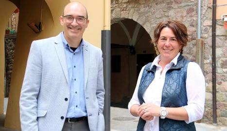 L'alcalde del Pont, Josep Antoni Troguet (JxCat), i Olga Escoll.