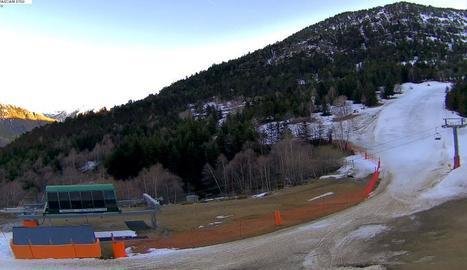 Imatge d'ahir de la webcam de l'estació d'esquí de Tavascan.
