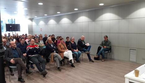 La sala de conferències de Pimec es va omplir per a l'acte de presentació de l'entitat Projecte Lleida.