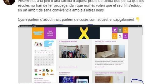 Captura de la piulada de David Bertran, diputat de Ciutadans al Parlament per Lleida.