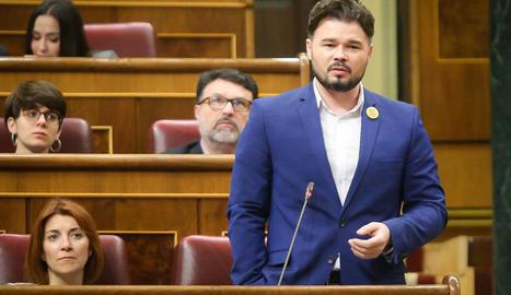 El portaveu d'ERC al Congrés, Gabriel Rufián.