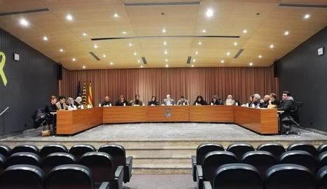 Imatge del ple municipal de Balaguer celebrat ahir a la nit.