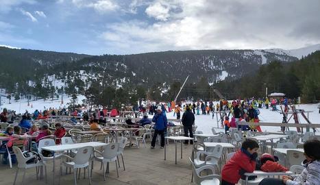 Les instal·lacions de Port Ainé, on ahir van esquiar prop de 2.200 persones.