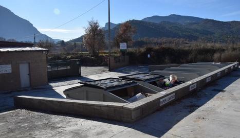 Imatge de la deixalleria de Coll de Nargó, que ha estat reformada recentment.