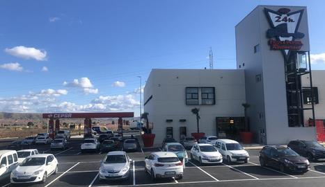 La nova àrea de servei de Fraga que va entrar en funcionament el cap de setmana passat.