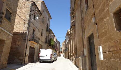 Imatge d'arxiu d'un carrer d'Albagés