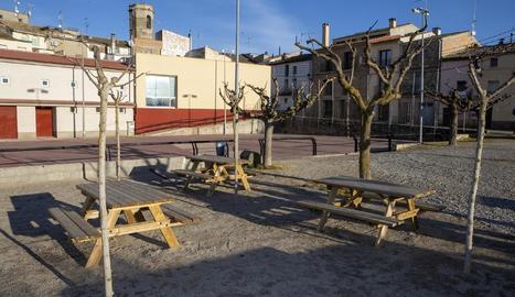 Imatge de la nova zona de lleure que ha habilitat l'ajuntament de Massoteres.