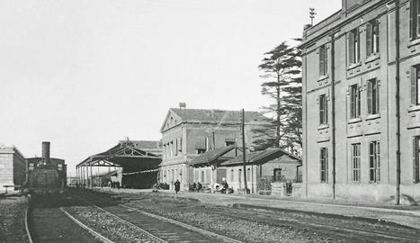 Imatge de l'antiga estació de Lleida el 1926.