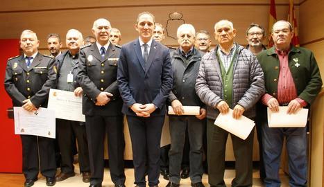 La Policia Nacional va celebrar ahir el 196 aniversari del cos.