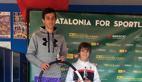 Álex Orán, campió a la categoria infantil.