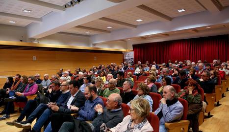 Campanya 'Amnistia Ara!' - La sala d'actes de la Diputació va acollir ahir la presentació a Lleida d'aquesta campanya per reclamar l'anul·lació de totes les causes obertes contra els independentistes.