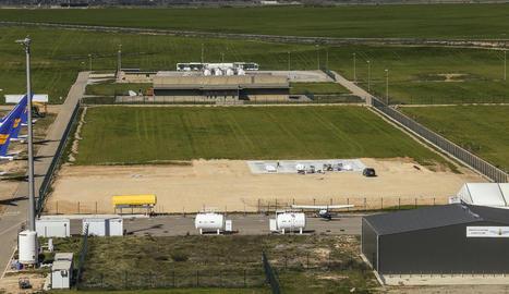 L'espai on s'ubicaran tant els nous hangars mòbils com el de grans dimensions.