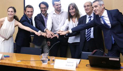 Imatge d'arxiu dels impulsors d'El País de Demà.