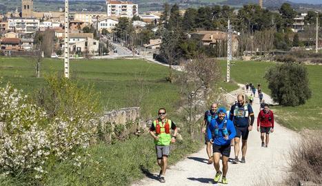 Els participants van afrontar un recorregut pels castells de la Segarra.