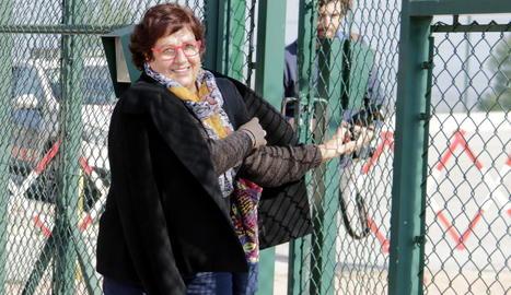 Imatge de Dolors Bassa sortint de la presó el 17 de febrer passat.