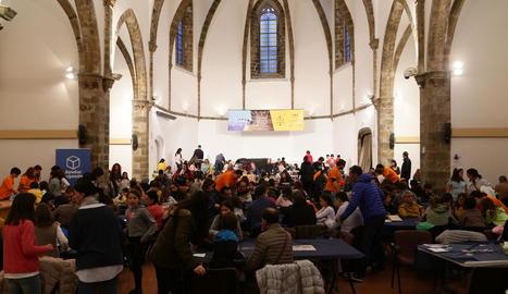Imatge ahir de la sala Sant Domènec, epicentre del festival.