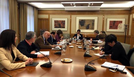 El ministre de Sanitat, Salvador Illa, presideix una reunió del comitè de seguiment i avaluació del coronavirus,