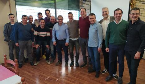 Jordi Terés, setè per l'esquerra, a la reunió d'ahir.