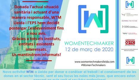 Posposat el Womentechmaker de Lleida per coronavirus