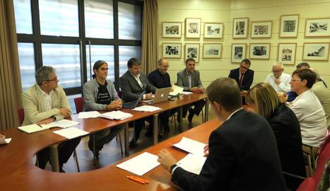 Imatge d'arxiu d'una reunió del consell d'administració de l'EMU.