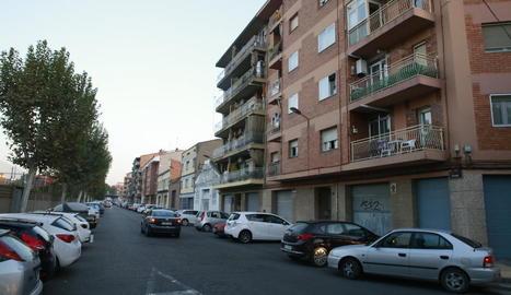 Un carrer del barri de la Bordeta.