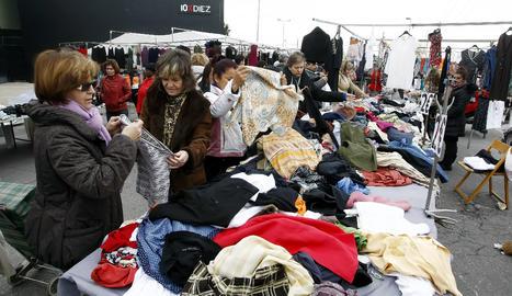 Imatge d'arxiu d'una parada del mercat de Torrefarrera.