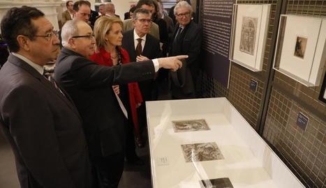 'Homenatge a Joan Prats', litografia de Miró.
