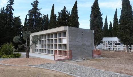 Imatge de la primera fase de l'ampliació del cementiri.