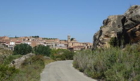 Vista general del Gogul, a les Garrigues, on van tenir lloc els fets ahir a la tarda.