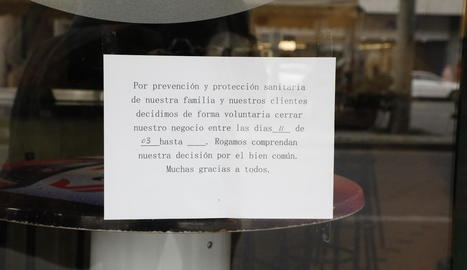 Restaurants, bars i basars xinesos abaixen la persiana a Lleida