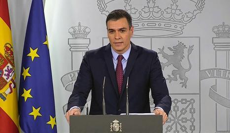 Sánchez decreta l'estat d'alarma per contenir el coronavirus