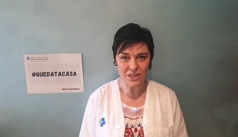 VÍDEO   El CAP de Rambla Ferran de Lleida també crida el #quedatacasa