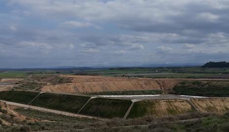 La zona on s'aixecarà la planta de selecció i tractament de l'abocador a Montoliu de Lleida.